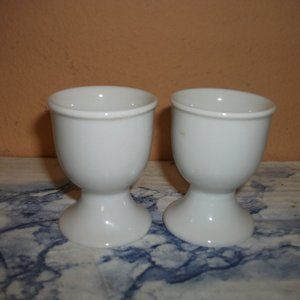 Pair of Vintage cute ceramic egg cups